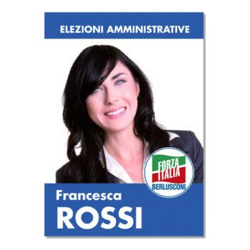 Manifesto Elettorale – Modello 1 – Forza Italia