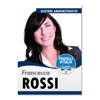 Manifesto Elettorale – Modello 2 – Fratelli d'Italia