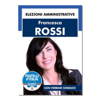 Manifesto Elettorale – Modello 3 – Fratelli d'Italia