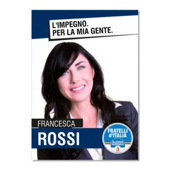 Manifesto Elettorale – Modello 4 – Fratelli d'Italia