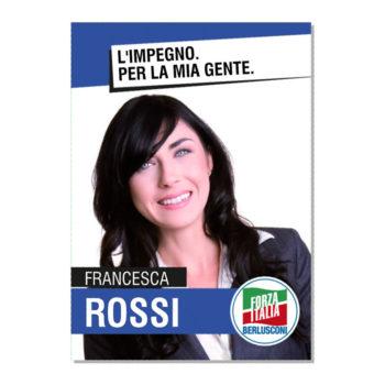 Manifesto Elettorale – Modello 4 – Forza Italia
