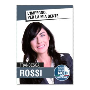 Manifesto Elettorale – Modello 4 – Nuovo Centro Destra