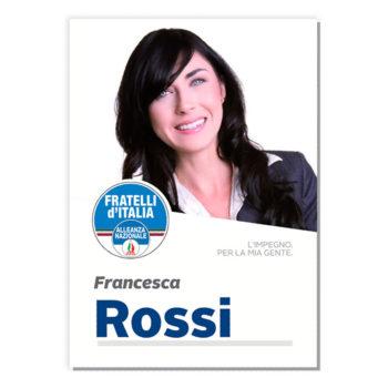 Manifesto Elettorale – Modello 5 – Fratelli d'Italia
