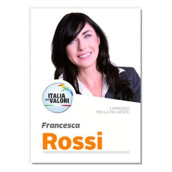 Manifesto Elettorale – Modello 5 – Italia dei Valori
