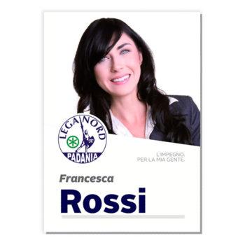 Manifesto Elettorale – Modello 5 – Lega Nord