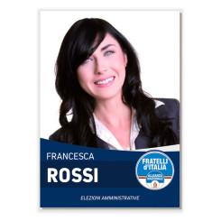 Manifesto Elettorale – Modello 6 – Fratelli d'Italia