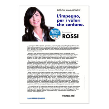 Lettera agli Elettori – Modello 1 – Fratelli d'Italia